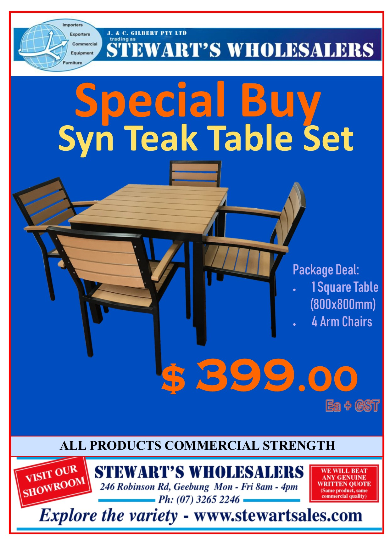 Syn Teak Square Package